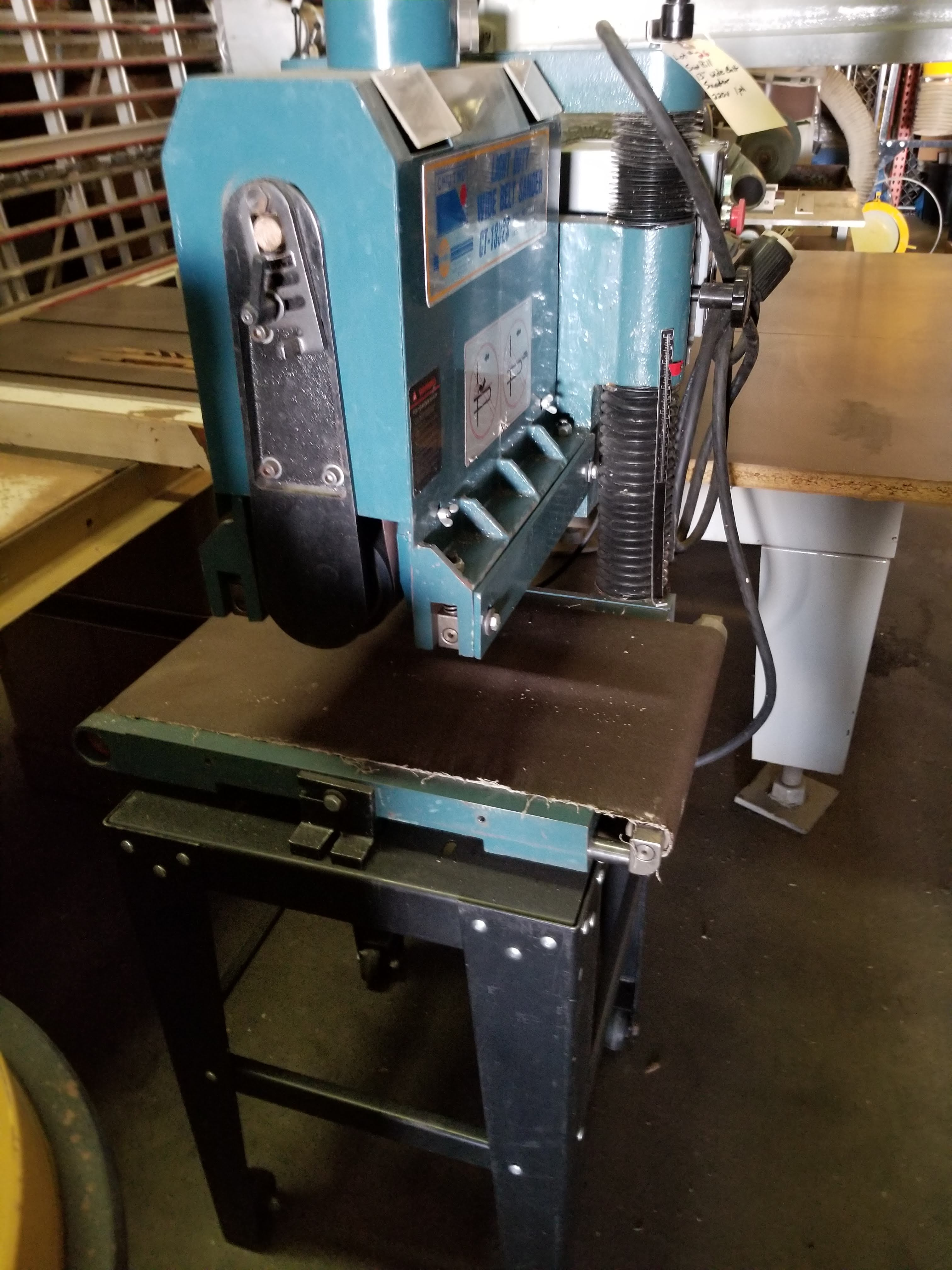 """Sunhill 13"""" Wide Belt Sander, 2Hp 220V 1ph, on stand with wheels. - Image 2 of 7"""