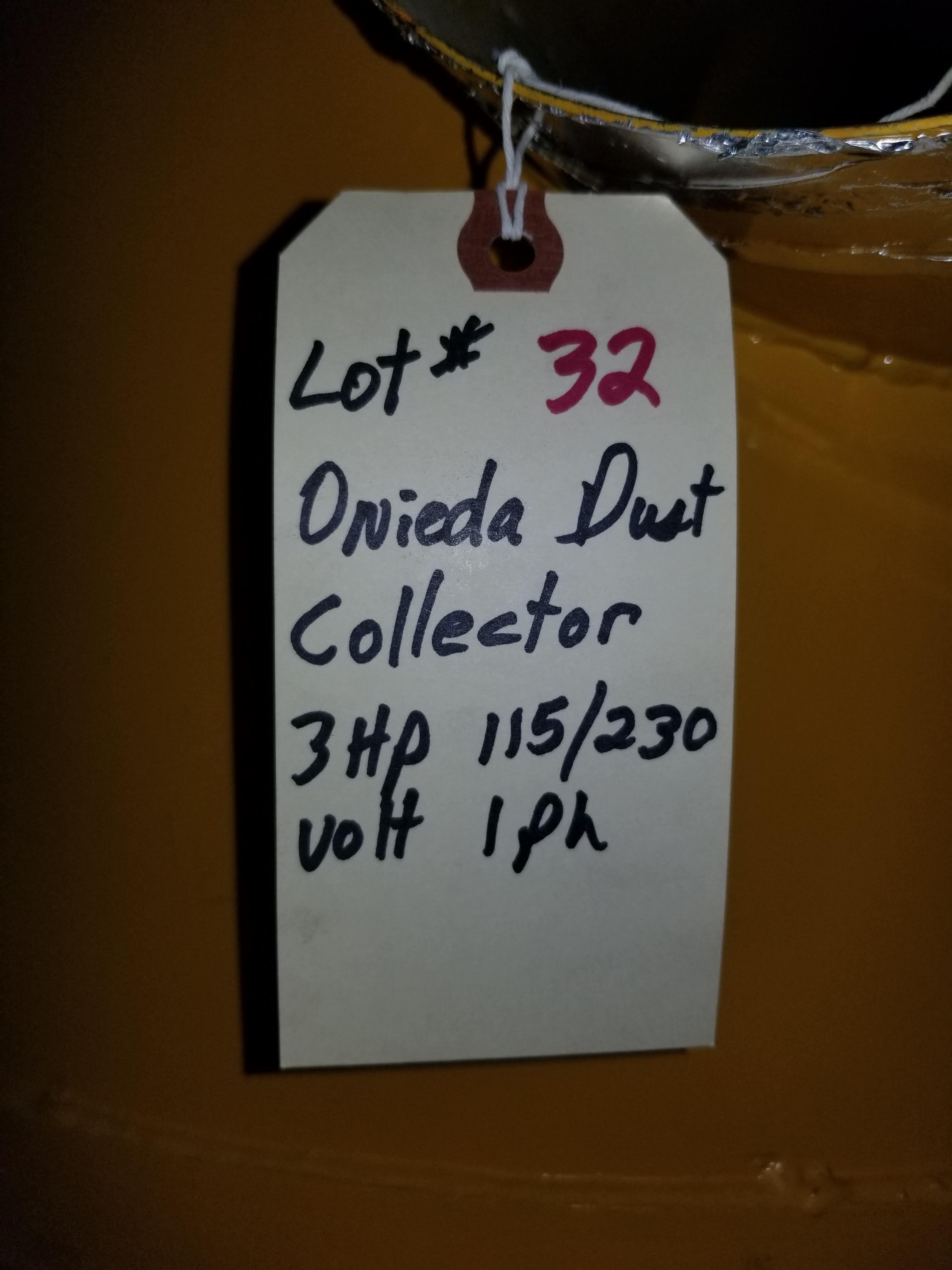 Oneida Dust Collector 3hp Super Dust Gorilla, 3hp 1ph 115/230V - Image 7 of 7
