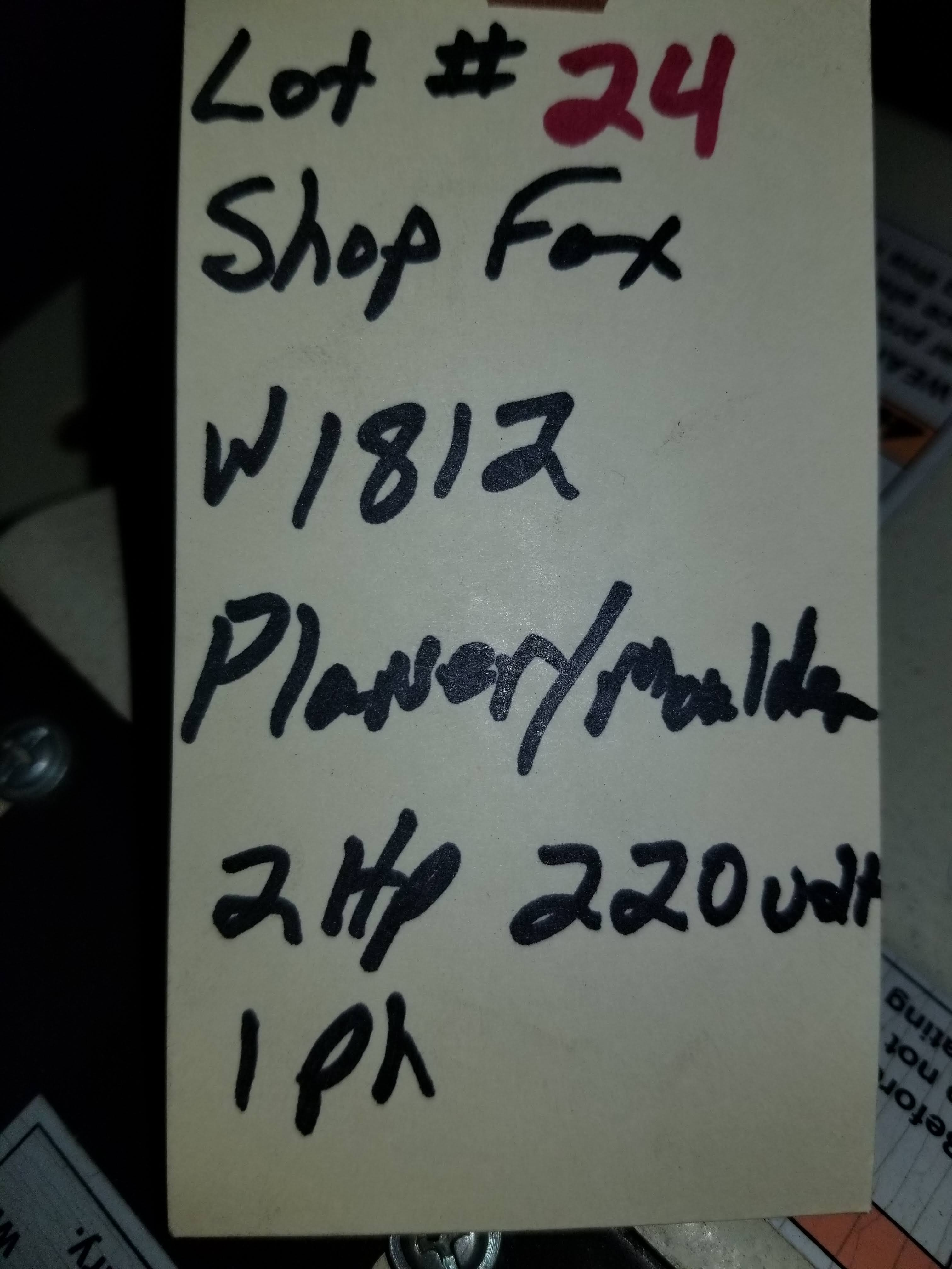 """Lot 24 - Shop Fox - 2 HP 7"""" Planer / Moulder with Stand W1812, 2hp 220V 1ph,"""