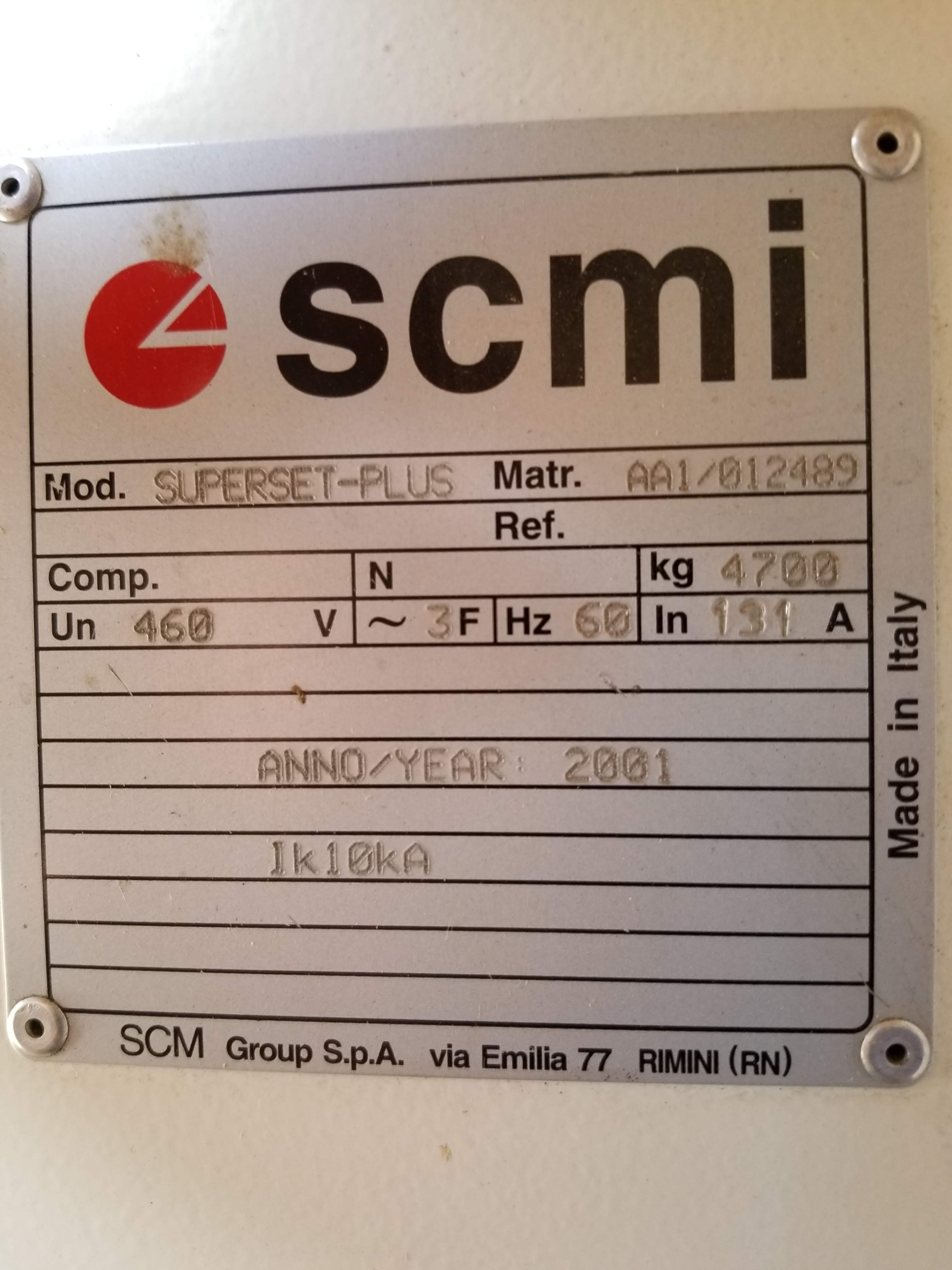"Lot 1 - SCMI Superset Plus 6 Head 9"" Wood Moulder, 6-Head (B-R-L-T-T-B), Bottom 12 HP, right & left spindles"