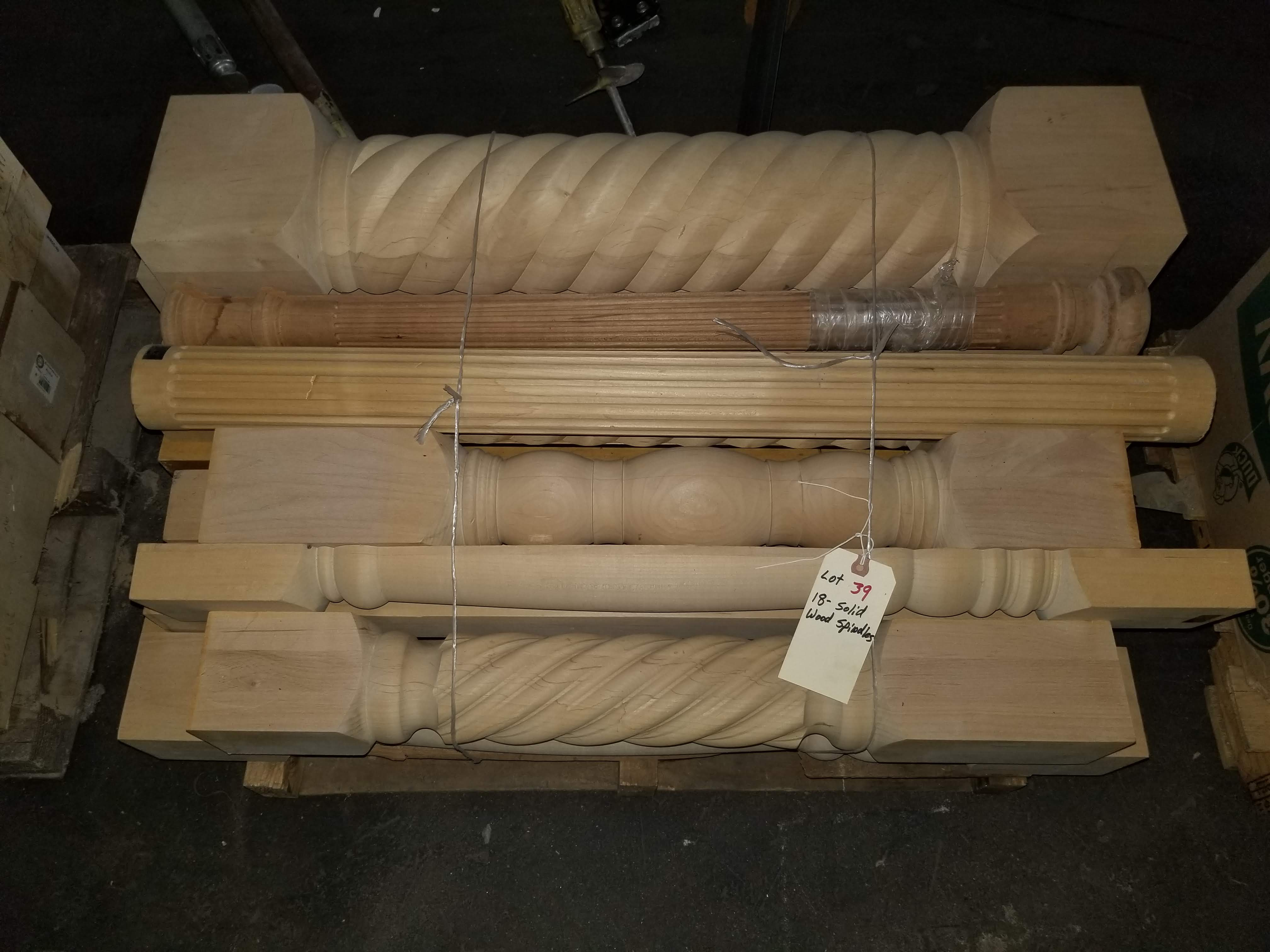 18 - Solid Fancy Hardwood Spindles - Image 4 of 6