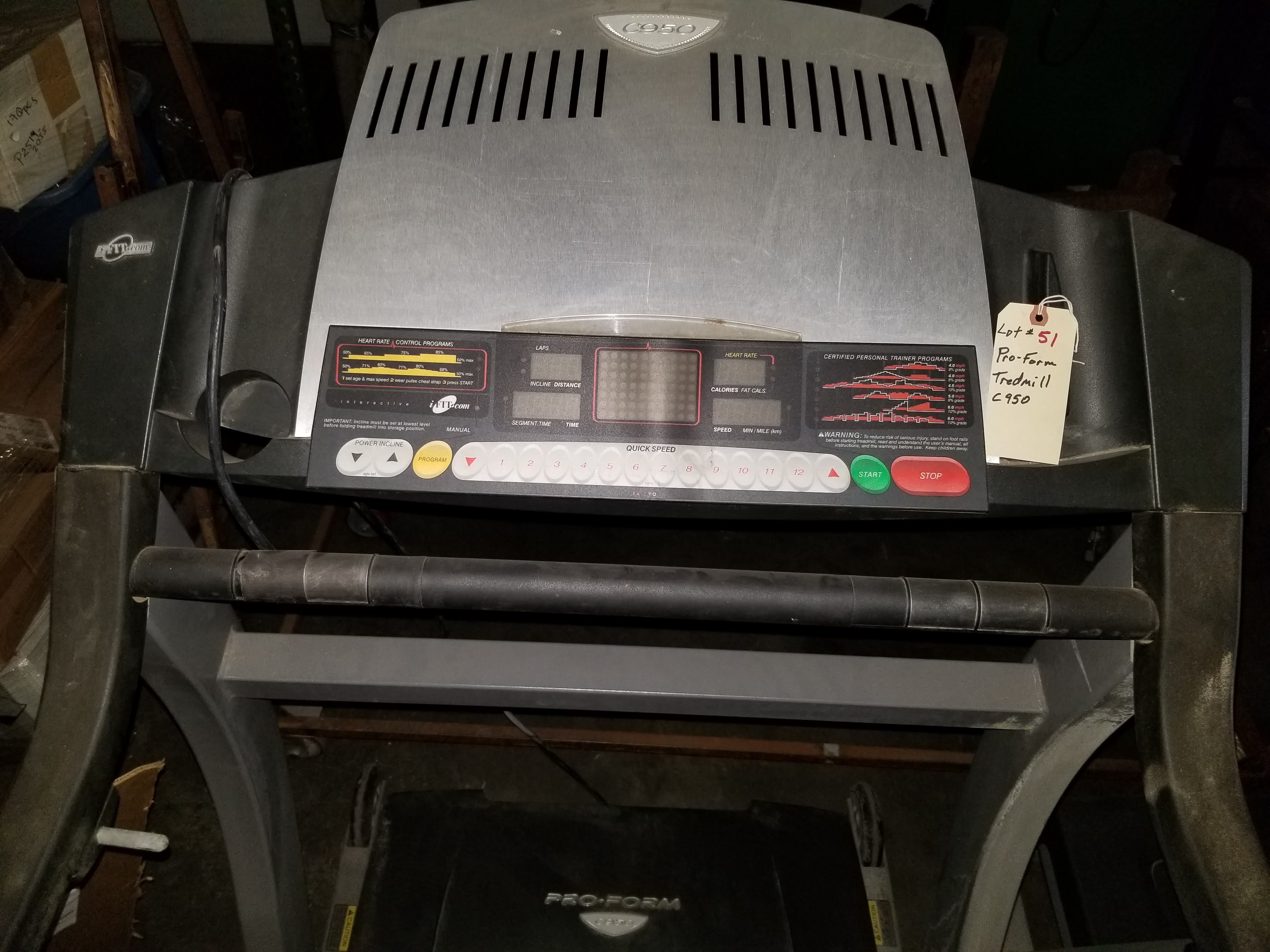 Pro-Form Tredmill C950 - Image 2 of 3