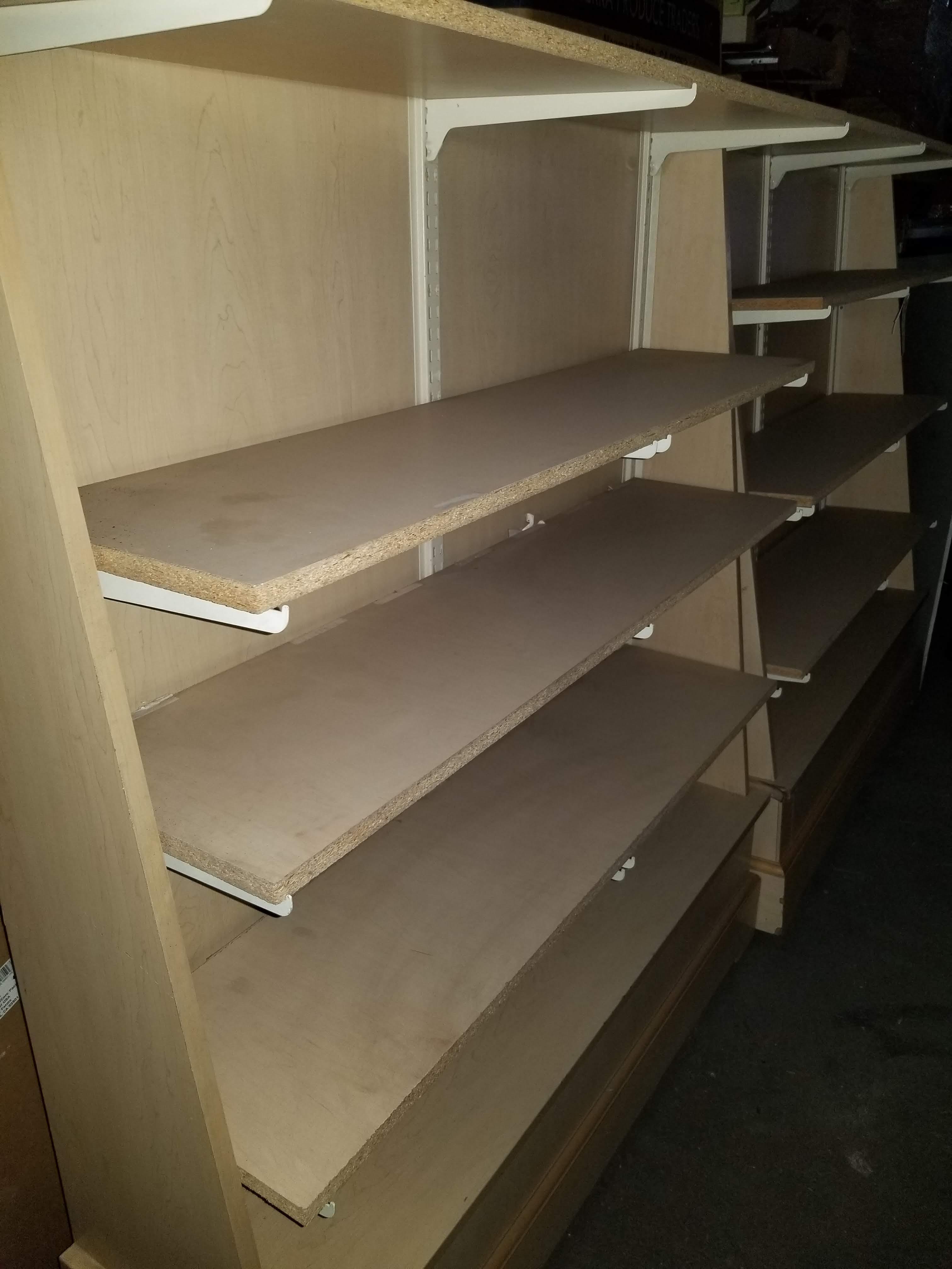 "2 - Wood Display Racks 50""x13""x62"" 5 Shelves - Image 3 of 4"