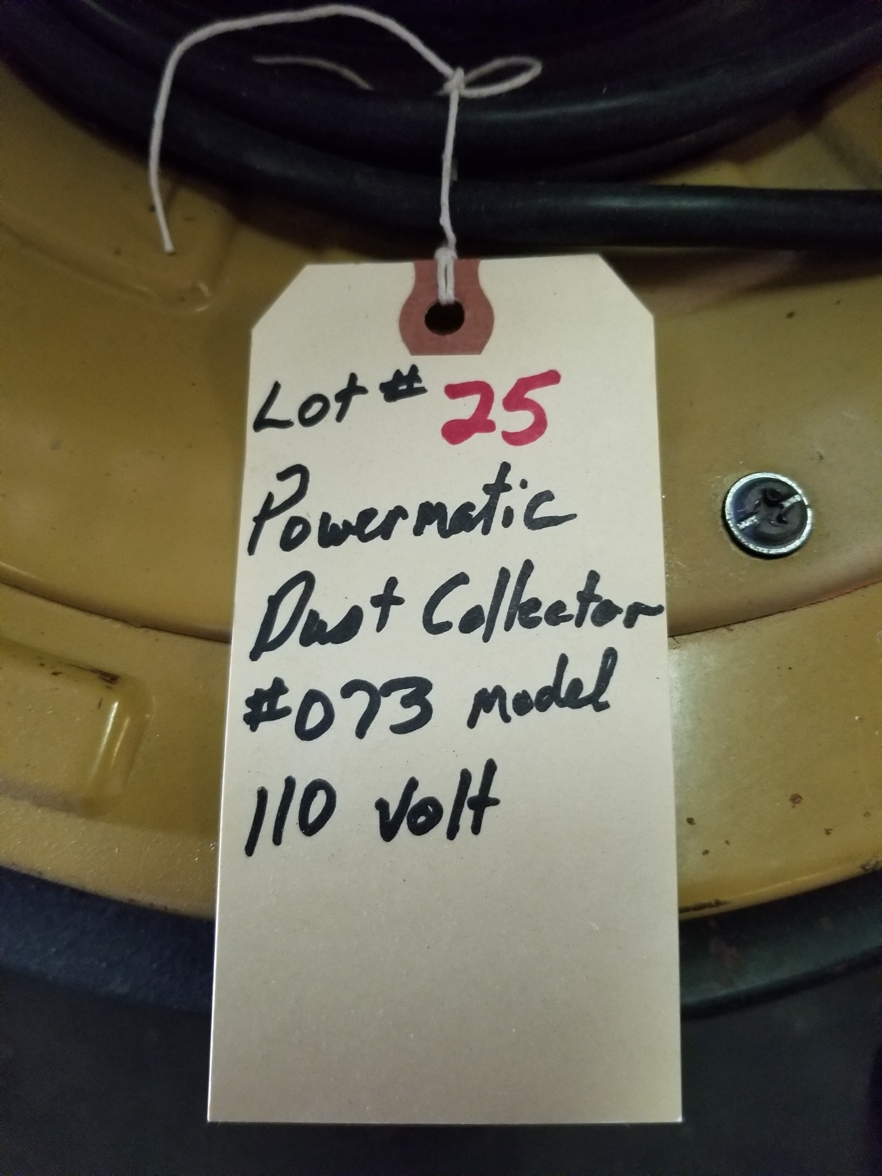 Powermatic Dust Collector Model # 073, 1.5 hp 110V, Top & Bottom Bag, (2) 4-Dust Chutes, Casters. - Image 5 of 5