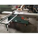 "Altendorf 12"" sliding table saw Mo. #84-10-11 w/ scoring blade, 7.5HP Main Motor, 1HP Scoring"