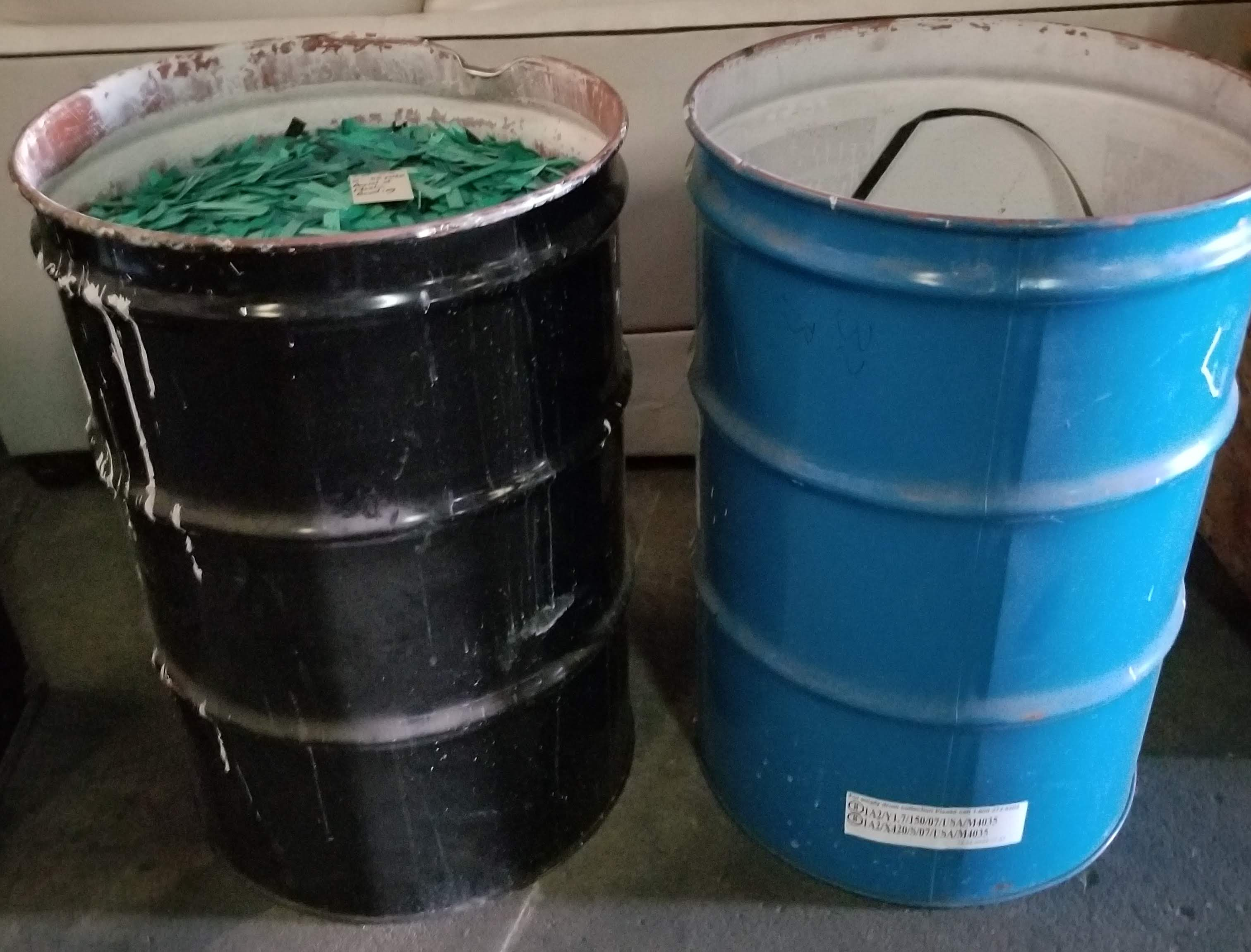 2 - 55 Gallon Barrels of Plastic Banding