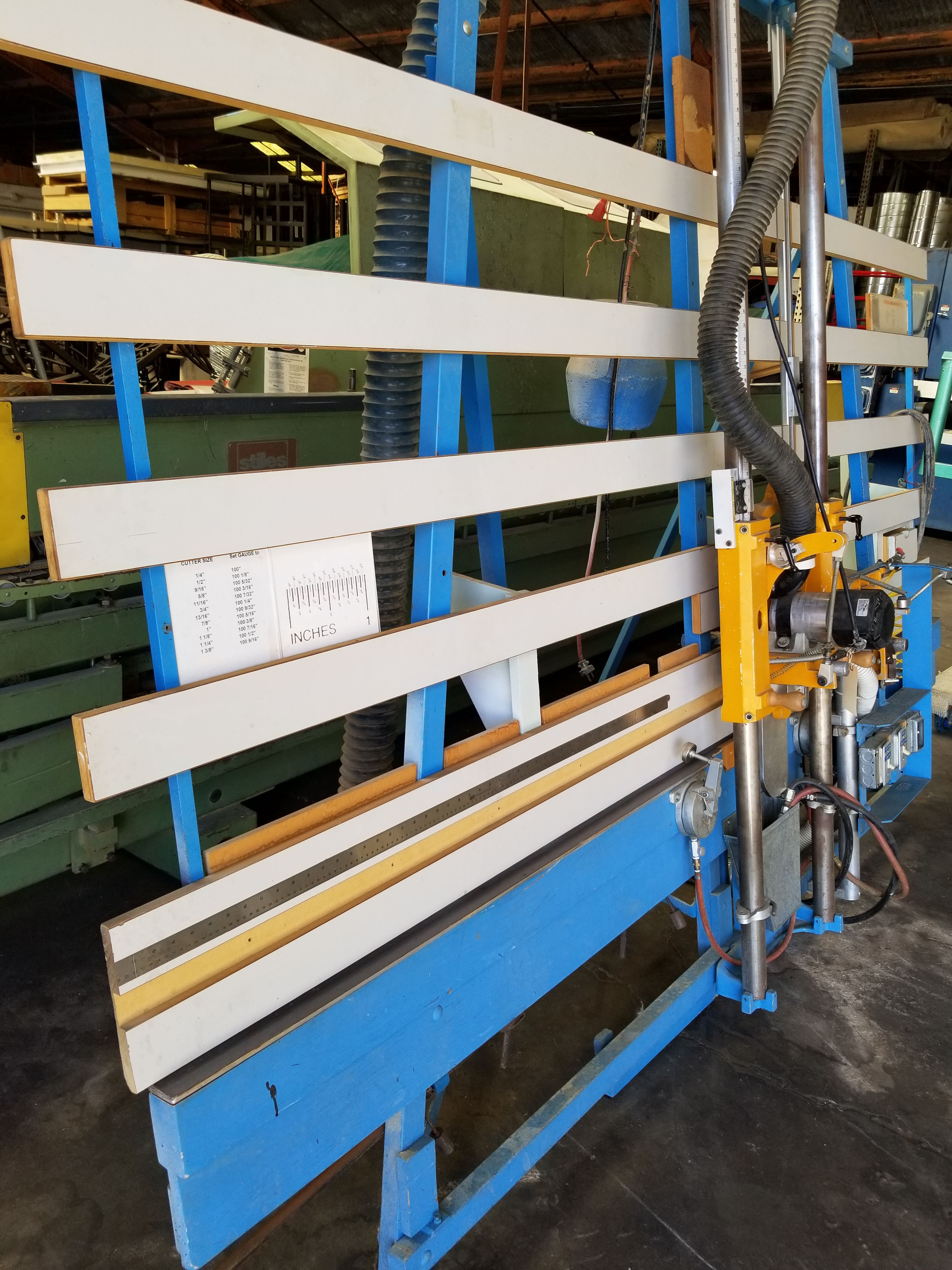 """Lot 4 - HerSaf Panel Router Model #145 110V, 2-pneumatic hold down clamps, 120"""" x 60"""" back fence area &"""