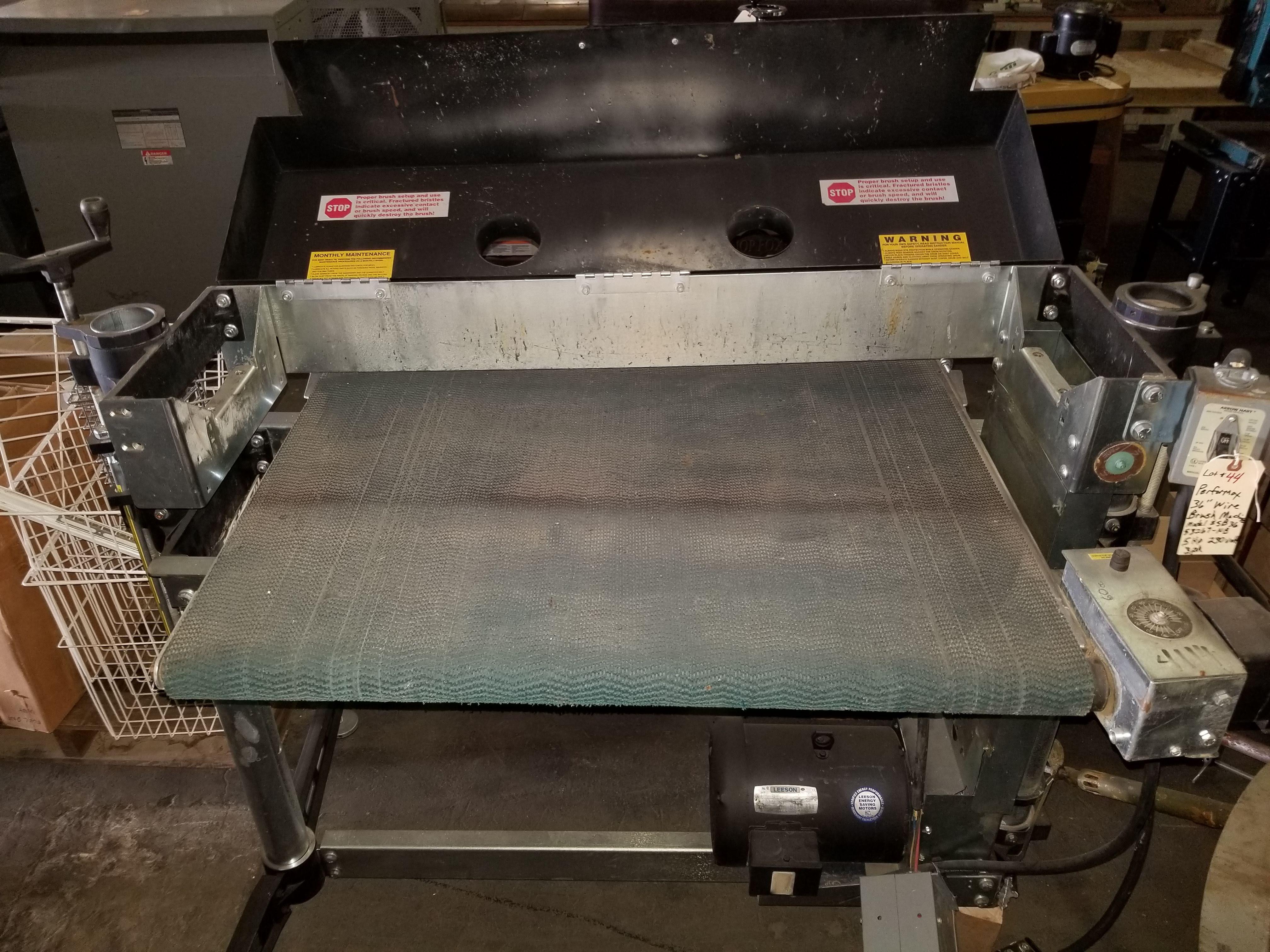 """Perormax 36"""" Wire Brush Machine Mo. #SB3653267-NB 5hp 230V 3ph No Brush - Image 2 of 5"""