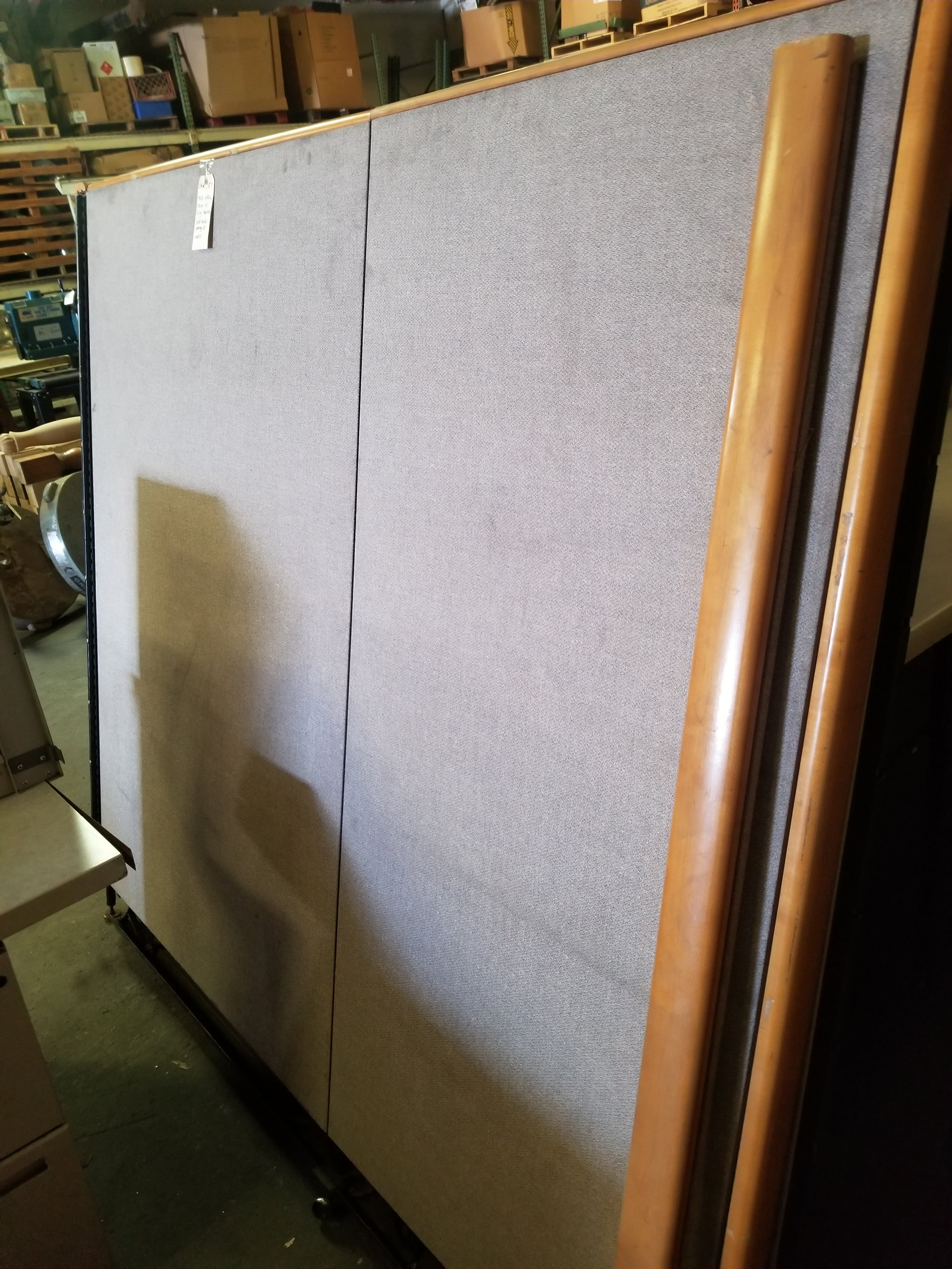 Grey Office Tables with walls & 3 - Grey Filing Cabinets - Image 3 of 7