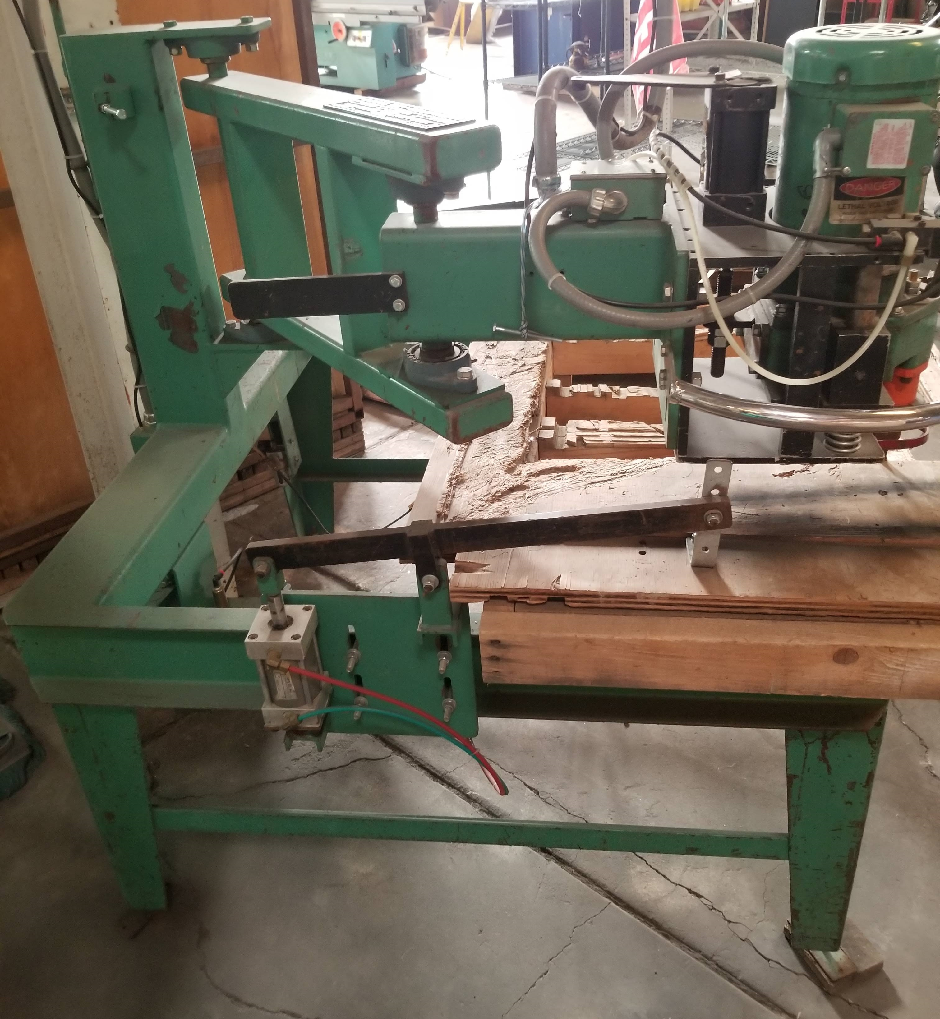 Lot 10 - Evans Rotork #2475 Countertop Sink Cut-Out Router Machine, 230/460V 3ph, Foot Pedal Control, table