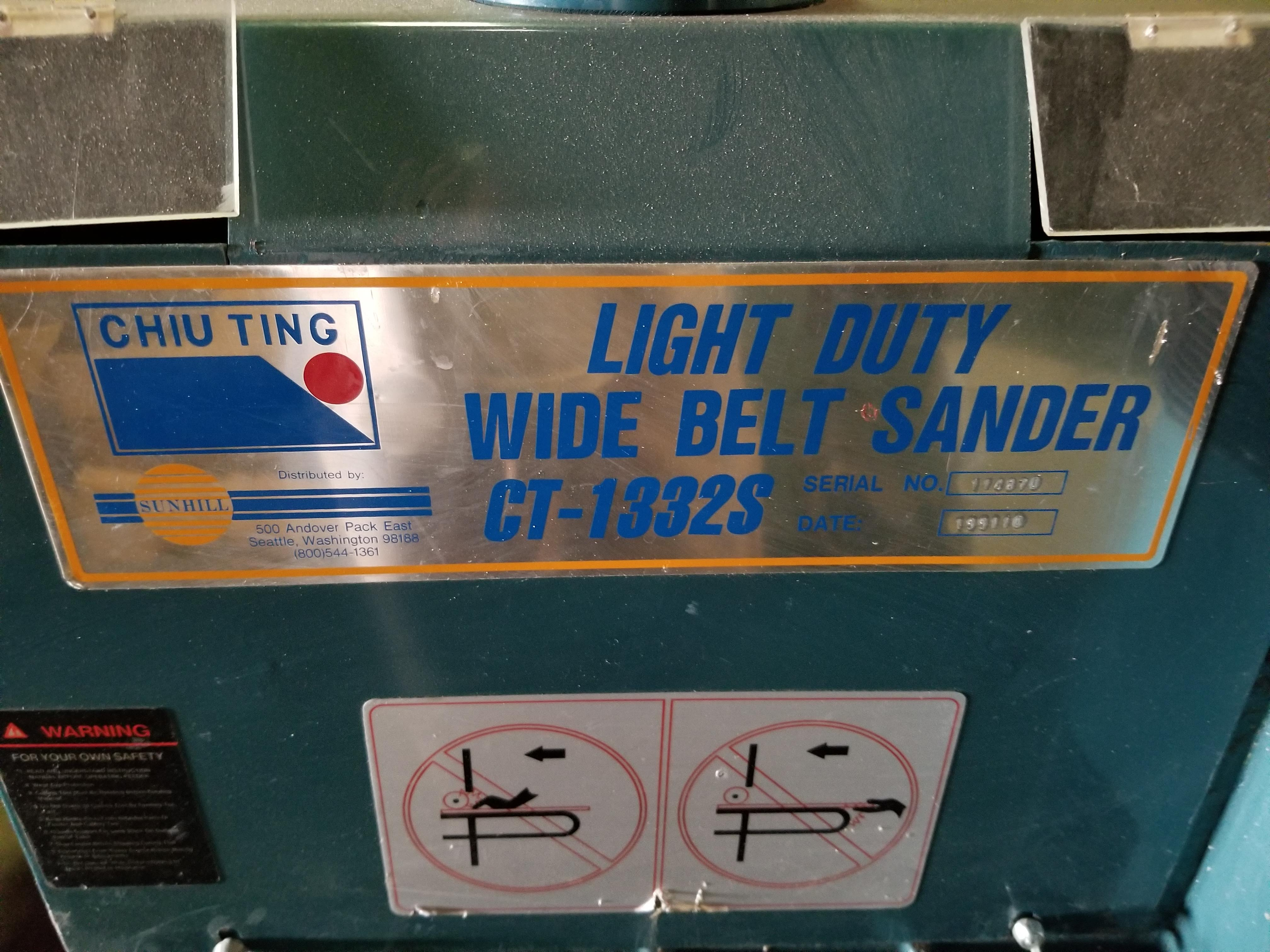 """Sunhill 13"""" Wide Belt Sander, 2Hp 220V 1ph, on stand with wheels. - Image 3 of 7"""