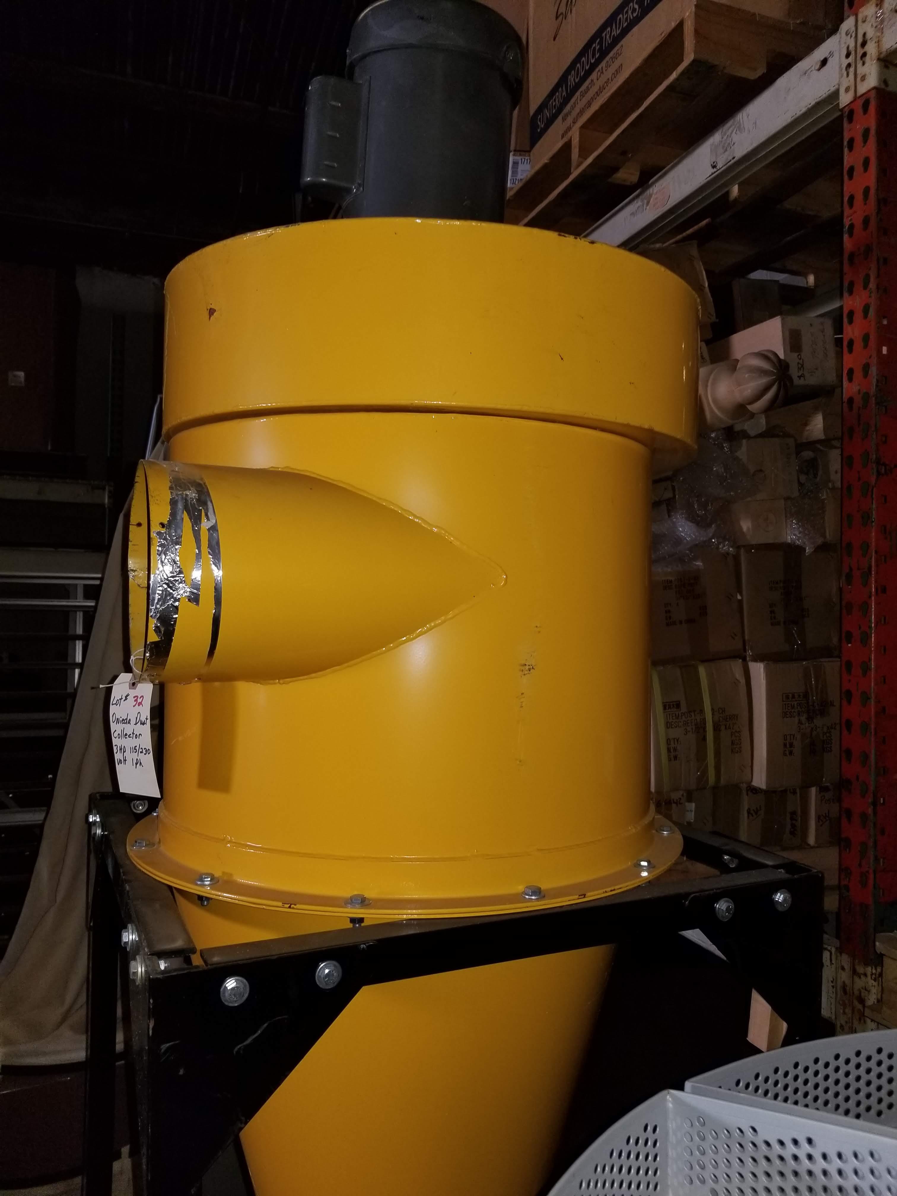 Oneida Dust Collector 3hp Super Dust Gorilla, 3hp 1ph 115/230V - Image 2 of 7