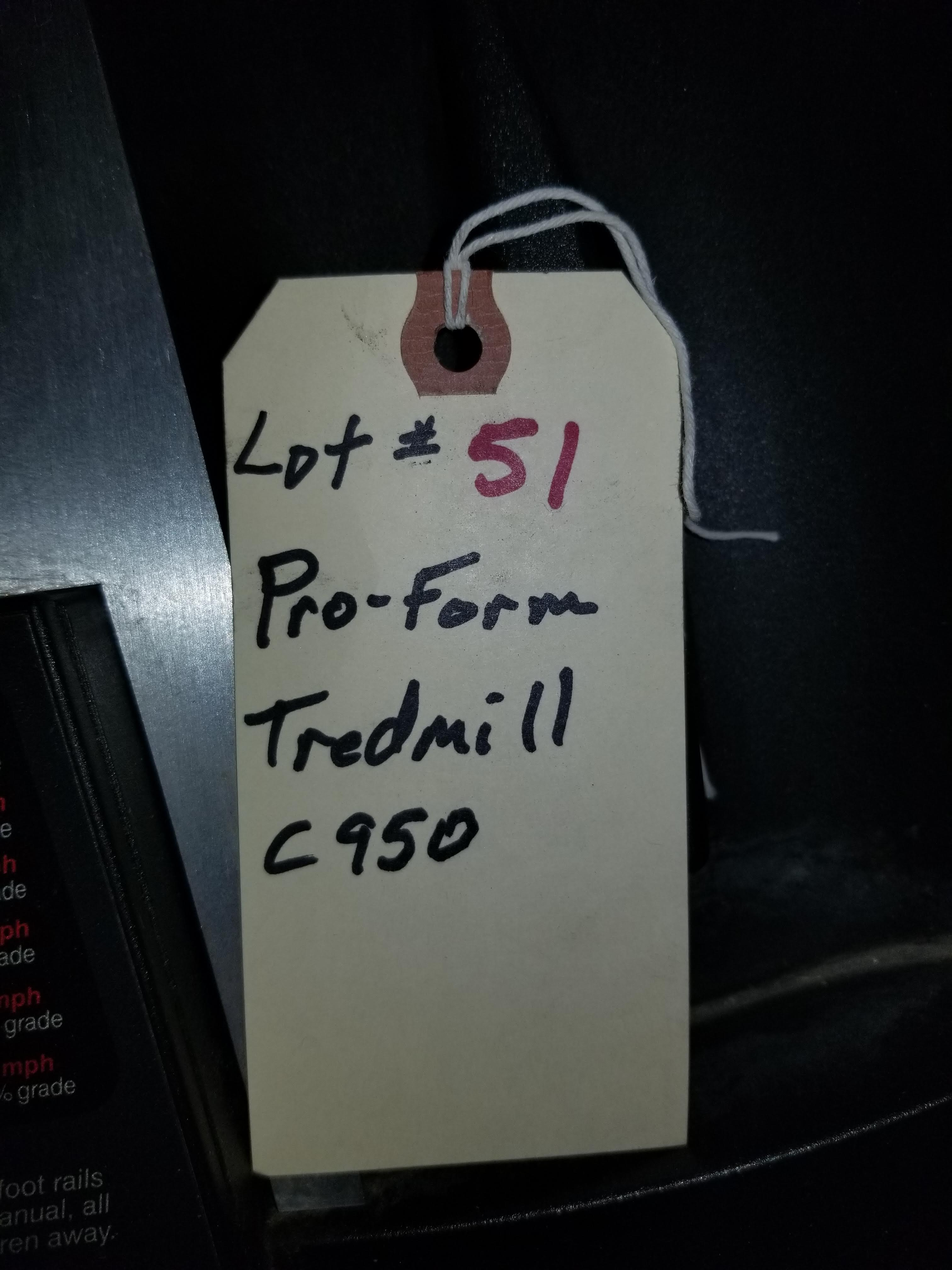 Pro-Form Tredmill C950 - Image 3 of 3