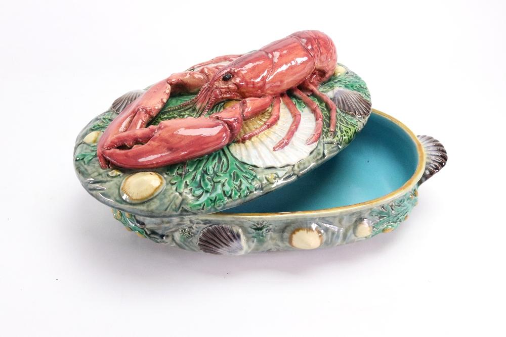 Lot 20 - A Minton Majolica lobster tureen and cover, circa 1870,