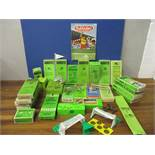 A collection of 1960s and 1970s Subbuteo 00 scale player figures and accessories