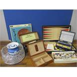A selection of mixed vintage games to include Backgammon and Banda carpet bowls, together with a