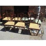 Mixed chairs to include five early 20th century Chippendale style chairs and three Victorian balloon