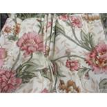 """A pair of new and bespoke floral curtains to fit a window 124"""" wide x 91""""drop, with a triple pleat"""