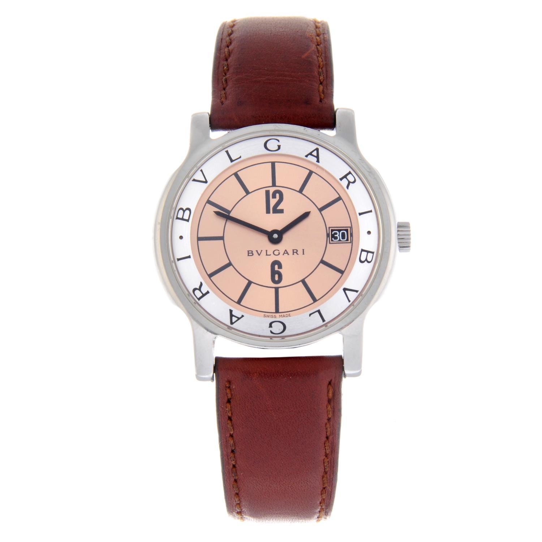 Lot 23 - BULGARI - a gentleman's Solotempo wrist watch.