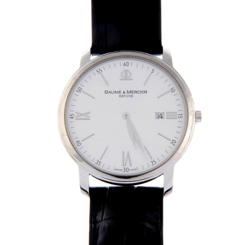 Lot 8 - BAUME & MERCIER - a lady's Hampton bracelet watch.