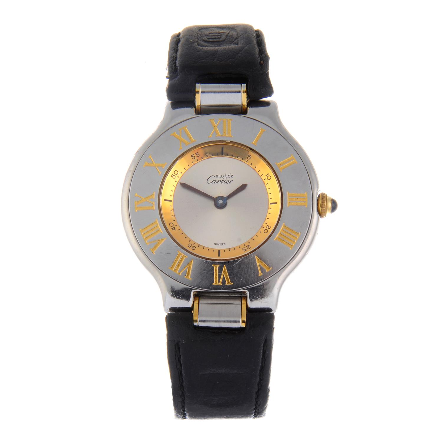 Lot 32 - CARTIER - a Must De Cartier 21 wrist watch.
