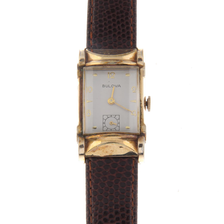 Lot 26 - BULOVA - a mid-size wrist watch.