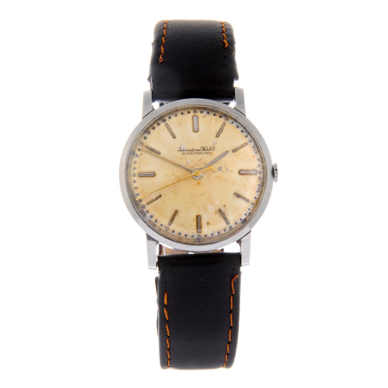 Lot 55 - IWC - a gentleman's wrist watch.