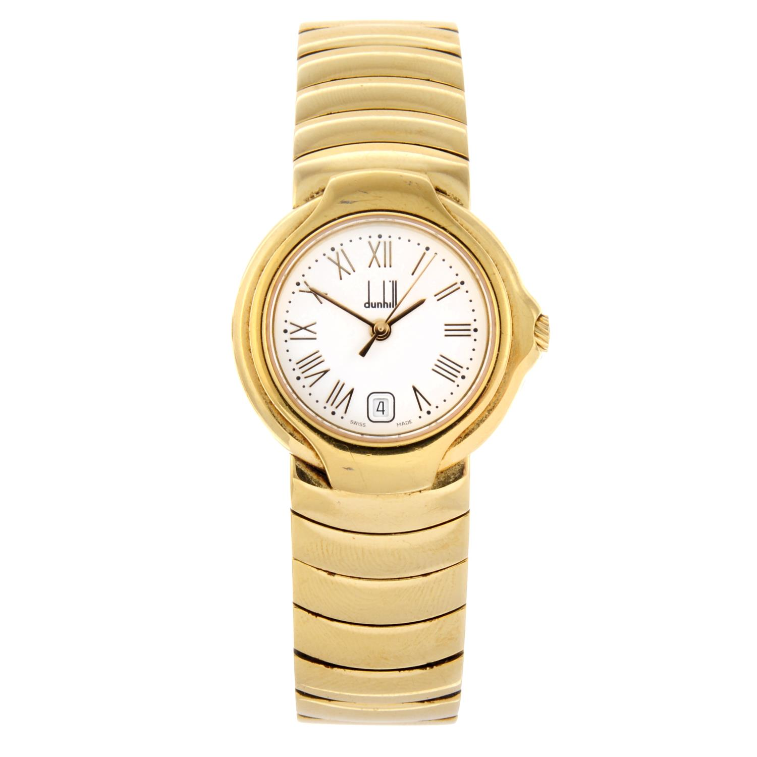 Lot 39 - DUNHILL - a lady's bracelet watch.