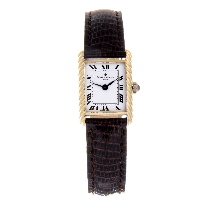 Lot 13 - BAUME & MERCIER - a lady's wrist watch.