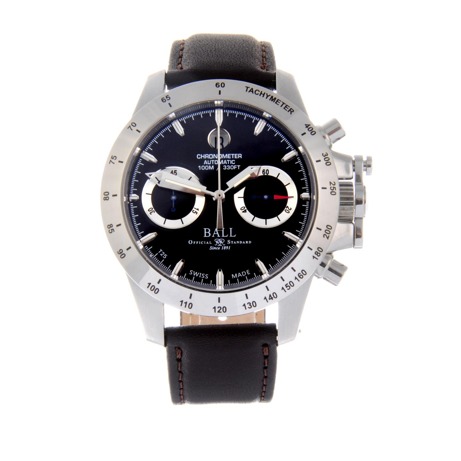 Lot 4 - BALL - a gentleman's Engineer Hydrocarbon chronograph wrist watch.