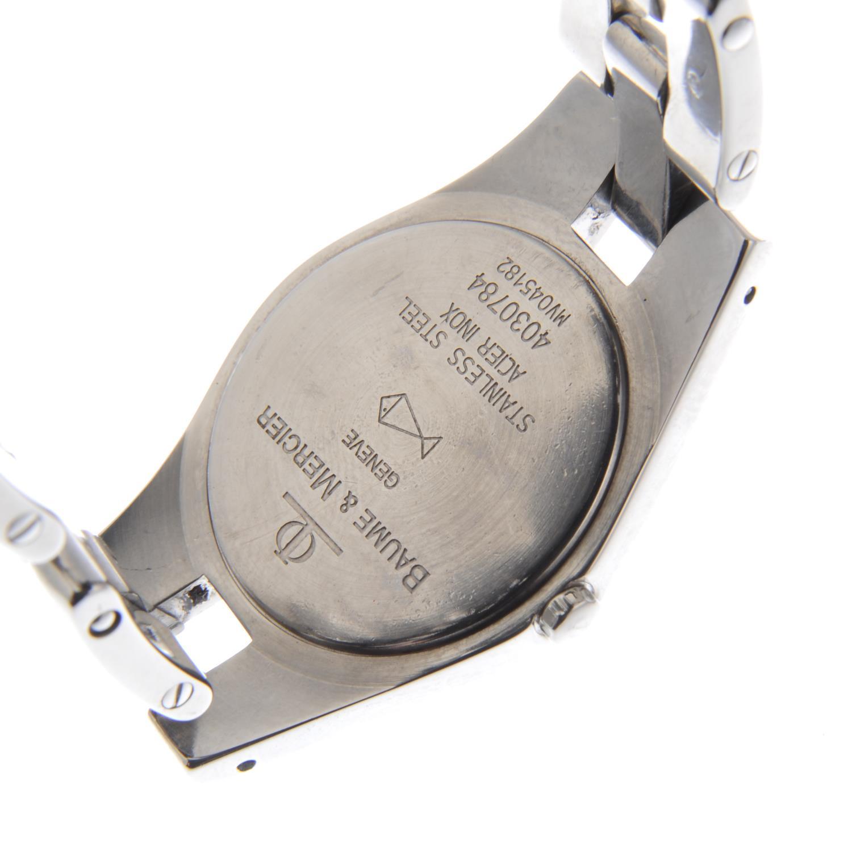 Lot 9 - BAUME & MERCIER - a lady's Linea bracelet watch.