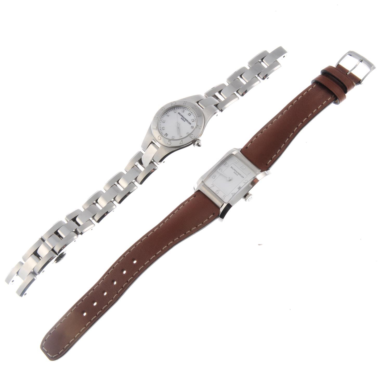 Lot 5 - BAUME & MERCIER - a lady's Linea bracelet watch.