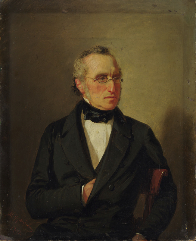 Lot 124 - Moritz Daniel Oppenheim (Hanau 1800 – 1882 Frankfurt am Main)PORTRAIT EINES SITZENDEN MANNES MIT