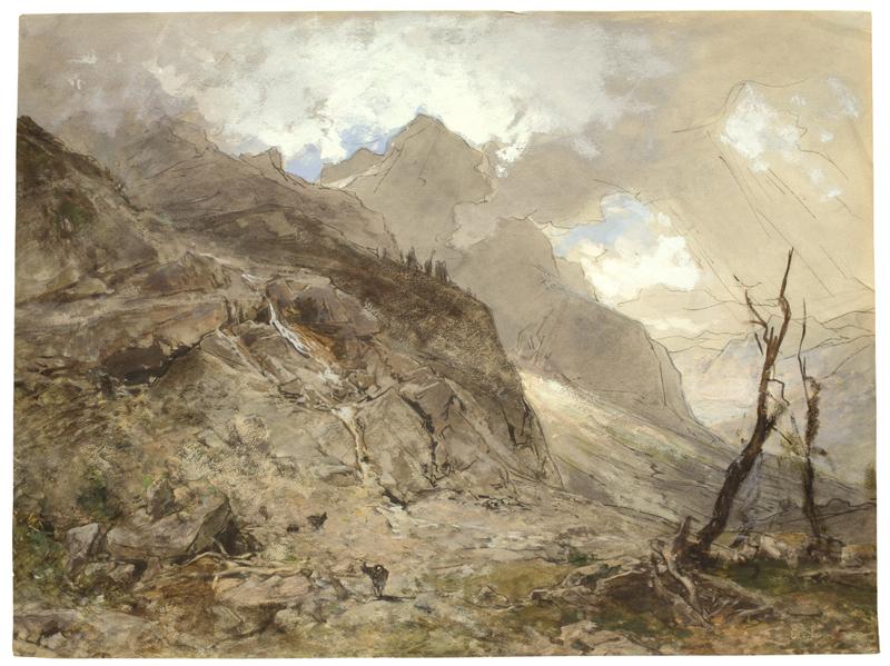 Lot 135 - Eduard Peithner von Lichtenfels (Wien 1833 – 1913 Berlin)IM GEBIRGE. Um 1890Aquarell, Deckfarben und