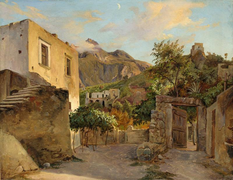 """Lot 156 - Theobald von Oer (Haus Notteck bei Stromberg 1807 – 1885 Lindenhof bei Coswig)""""ISCHIA"""". 1838Öl auf"""