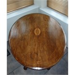 Victorian Inlaid Oval Tilt top Table