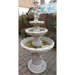 Large Garden Water Fountain (Includes Pump)