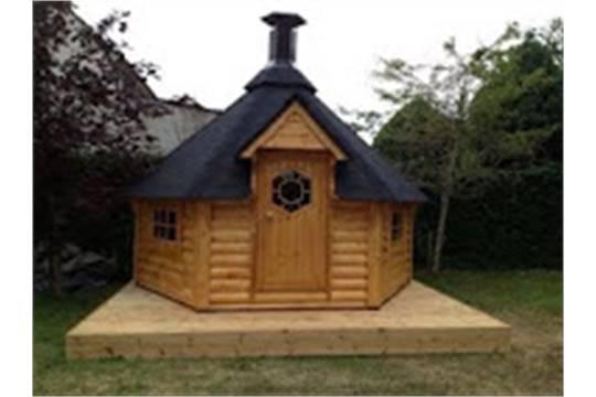 Bbq Grill Hut 9 2m2 6 Corner Cabin 39 S Comes Complete With Walls
