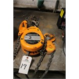 Harrington 3 Ton Chain Hoist