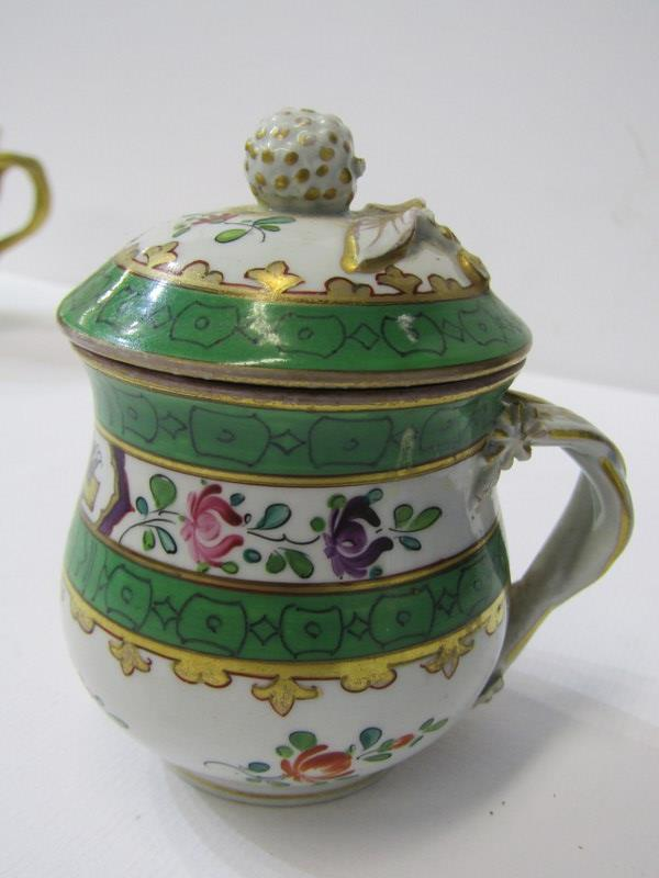 RED ANCHOR CHELSEA - TYPE, pair of lidded chocolate cups with insect and foliate design, also 3 - Image 5 of 7