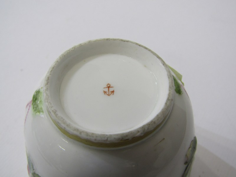 RED ANCHOR CHELSEA - TYPE, pair of lidded chocolate cups with insect and foliate design, also 3 - Image 4 of 7