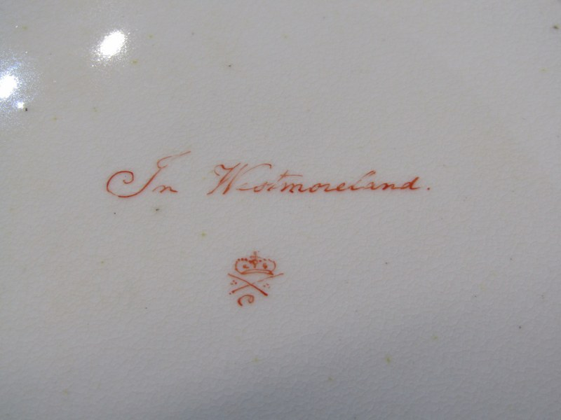 REGENCY CROWN DERBY, a fine gilded part tea service decorated with named topographical reserves - Image 3 of 4