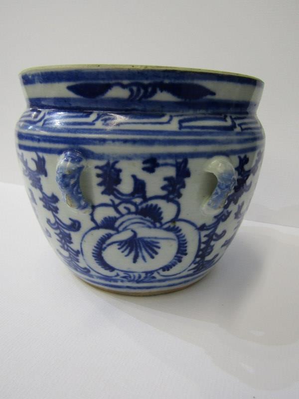 "ORIENTAL CERAMICS, under glaze blue porcellainous stoneware lidded 6"" jar together with Hawthorn - Image 5 of 9"