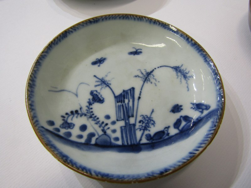 ORIENTAL CERAMICS, collection of 4 Chinese tea bowls and saucers, including one cafe'au'lait (some - Image 4 of 4