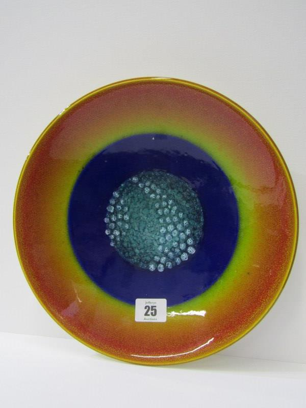 "POOLE, Limited Edition ""Earth"" shallow dish, 10.5 diameter"