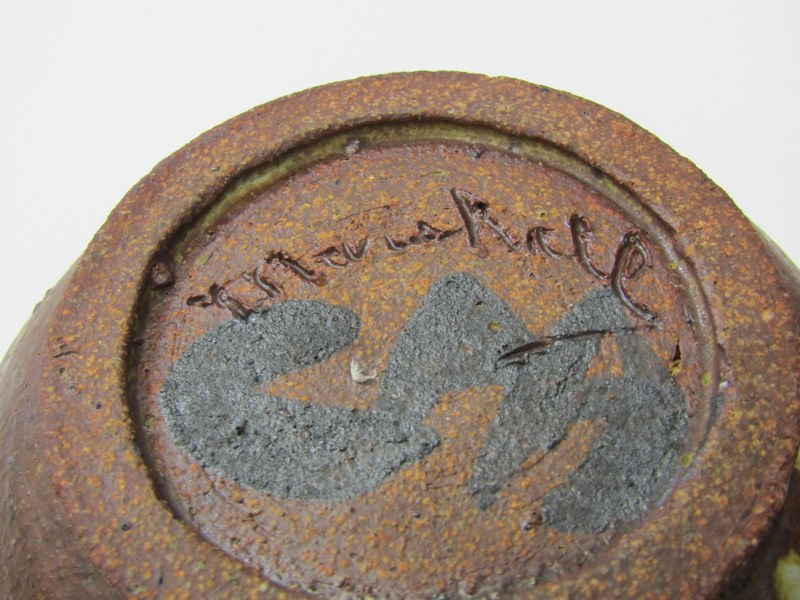 STUDIO POTTERY, Ian Godfrey collection of 4 bowls of various sizes and glazes - Image 6 of 6
