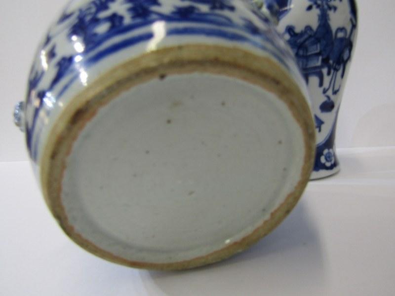 "ORIENTAL CERAMICS, under glaze blue porcellainous stoneware lidded 6"" jar together with Hawthorn - Image 4 of 9"