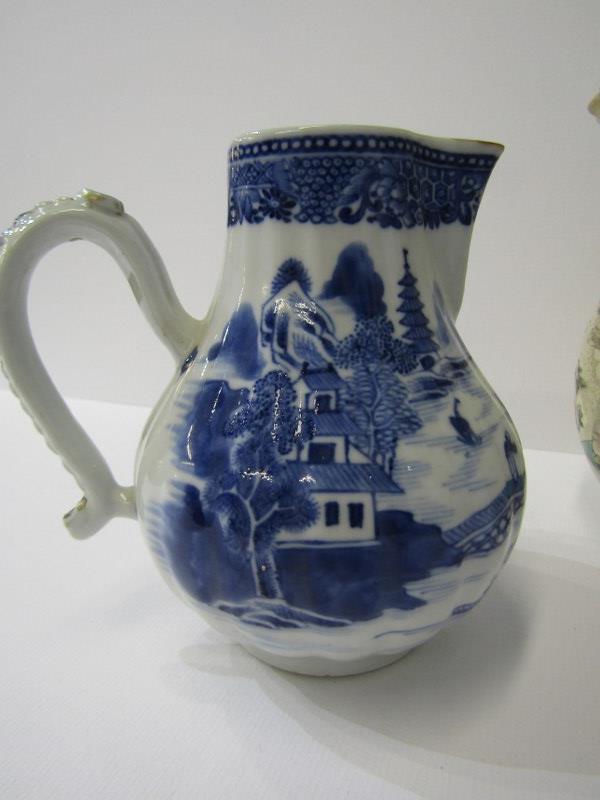 "ORIENTAL CERAMICS, unusual Satsuma ""Bag"" design lidded jar, 6"" height; also Nanking sparrow beaked - Image 5 of 5"