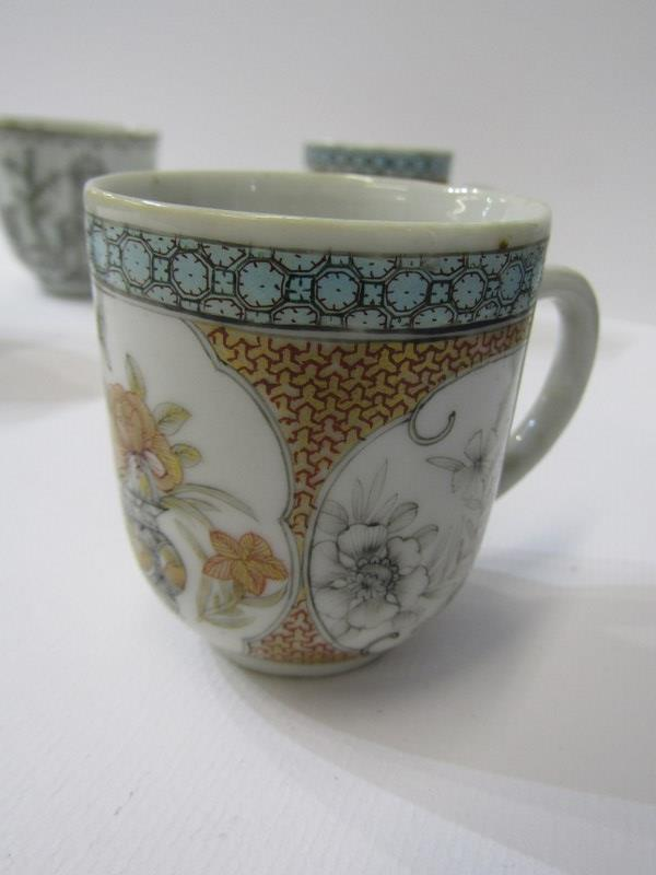 ORIENTAL CERAMICS, collection of 5 early 19th Century tea cups of various designs - Image 3 of 4