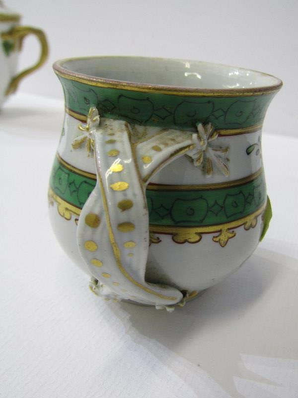 RED ANCHOR CHELSEA - TYPE, pair of lidded chocolate cups with insect and foliate design, also 3 - Image 7 of 7
